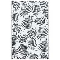 vidaXL Zunanja preproga bela in črna 120x180 cm PP