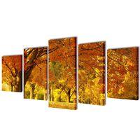 Set platen s printom javorja 100 x 50 cm