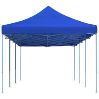 vidaXL Zložljiv pop-up vrtni šotor 3x9 m moder