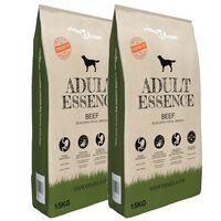 vidaXL Premium suha pasja hrana Adult Essence Beef 2 x 30 kg
