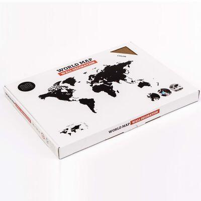 MiMi Innovations Lesen zemljevid sveta Luxury rjav 180x108 cm