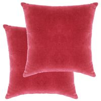 vidaXL Blazine iz bombažnega žameta 2 kosa 45x45 cm roza