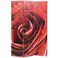 vidaXL Zložljiv paravan 120x170 cm vrtnica rdeč
