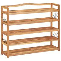 vidaXL Stojalo za čevlje 5-nadstropno 95x26x80 cm trden akacijev les