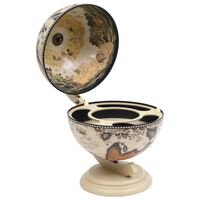 vidaXL Namizni globus bar/stojalo za vino les evkaliptusa bel