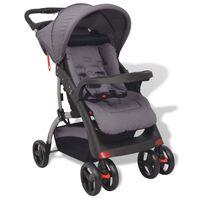 vidaXL Otroški voziček siv 102x52x100 cm