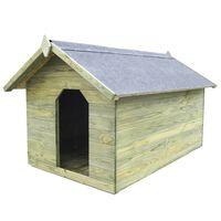 vidaXL Vrtna pasja uta z odpirajočo streho impregnirana borovina
