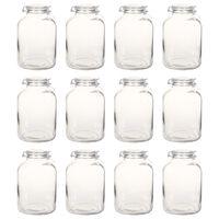 vidaXL Stekleni kozarci za marmelado z zapiralom 12 kosov 5 L