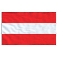 vidaXL Avstrijska zastava 90x150 cm