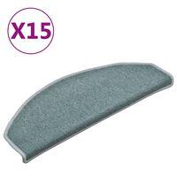 vidaXL Preproge za stopnice 15 kosov modre 65x24x4 cm