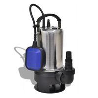 vidaXL Potopna vodna črpalka za umazano vodo 1100 W 16500 L/h