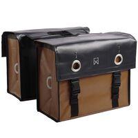 Willex Kolesarska torba tarpaulin 52 L mat črna in mat rjava