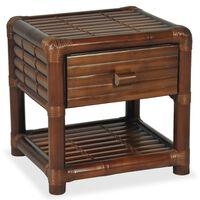 vidaXL Nočna mizica 45x45x40 cm bambus temno rjave barve