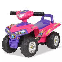 vidaXL Otroški štirikolesnik z zvoki in lučmi roza in vijoličen