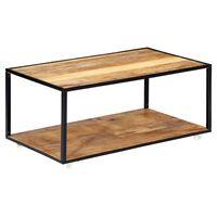 vidaXL Klubska mizica 90x50x40 cm iz trdnega predelanega lesa