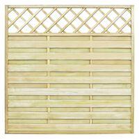 vidaXL Vrtni ograjni panel z mrežo les 180x180 cm
