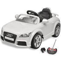 Audi TT RS električni avto za otroke z dalinjcem bele barve
