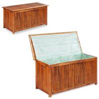 vidaXL Vrtna škatla za shranjevanje 117x50x58 cm trden akacijev les