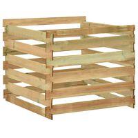 vidaXL Vrtni kompostnik iz letvic 100x100x80 cm impregnirana borovina