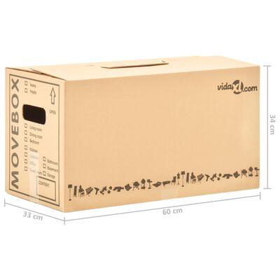 vidaXL Kartonske škatle XXL 200 kosov 60x33x34 cm