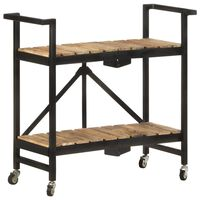 vidaXL Kuhinjski voziček 87x36x81 cm trden mangov les