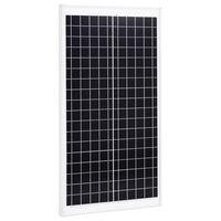 vidaXL Solarna plošča 30 W polikristalni aluminij in varnostno steklo