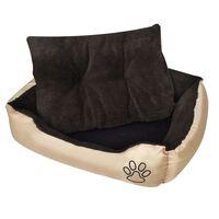 vidaXL Topla pasja postelja s podloženo blazino M