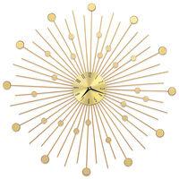 vidaXL Stenska ura kovinska 70 cm zlata