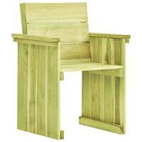 vidaXL Vrtni stol iz impregnirane borovine