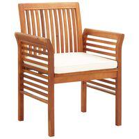 vidaXL Vrtni jedilni stoli z blazinami 2 kosa trden akacijev les