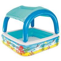 Bestway Otroški bazen s streho moder 140x140x114 cm 52192