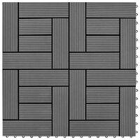 vidaXL Talne plošče 22 kosov 30x30 cm 2 m² WPC sive