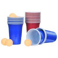 vidaXL Komplet pripomočkov za Beer Pong 0,5 L plastika