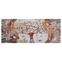 vidaXL Slika na platnu drevo večbarvna 200x80 cm