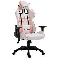 vidaXL Gaming stol roza umetno usnje