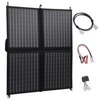 vidaXL Zložljiv solarni polnilnik 80 W 12 W