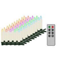 vidaXL Božične brezžične LED svečke z daljincem 50 kosov RGB