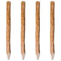 vidaXL Koničasti ograjni stebrički 4 kosi iz leskovine 120 cm