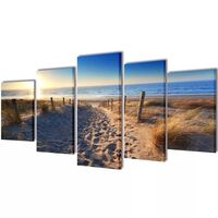 Set platen s printom peščene plaže 200 x 100 cm