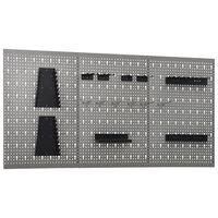 vidaXL Stenske plošče za obešanje orodja 3 kosi 40x58 cm jeklo