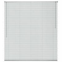 vidaXL Žaluzije za Okna Aluminij 160x220 cm Srebrne Barve