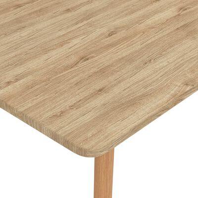 vidaXL Jedilna miza 120x60x75 cm kovinska