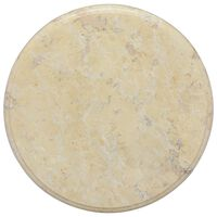 vidaXL Mizna plošča krem Ø 40x2,5 cm marmor
