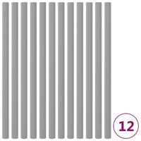 vidaXL Penasti tulci za trampolin 12 kosov 92,5 cm sivi