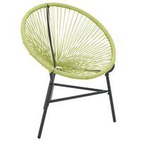 vidaXL Vrtni stol Acapulco poli ratan zelen