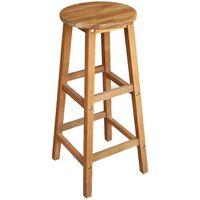 vidaXL Barski stoli 2 kosa trden akacijev les
