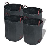 Temno zelena vrtna vreča za odpadke 4 kosi 272 L 150 g / m²