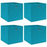 vidaXL Škatle za shranjevanje 4 kosi baby modre 32x32x32 cm blago