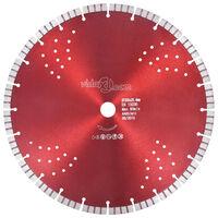 vidaXL Diamantni rezalni disk s turbo in luknjami iz jekla 350 mm