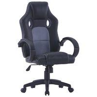 vidaXL Gaming stol sivo umetno usnje